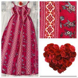 🌸NWT Boho Pink Rose vintage brand floral sundress